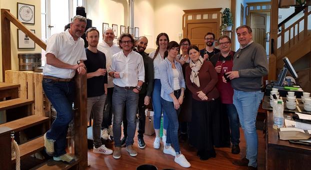 Team Deutsche Röstergilde in der Norder Kaffeemanufaktur