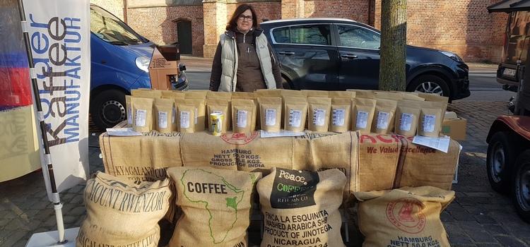 Norder Kaffeemanufaktur aauf dem Norder Wochenmarkt