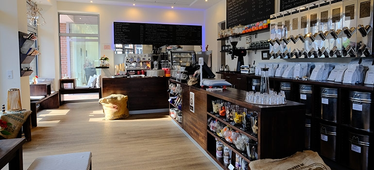 Blick in das Café der Norder Kaffee-Manufaktur